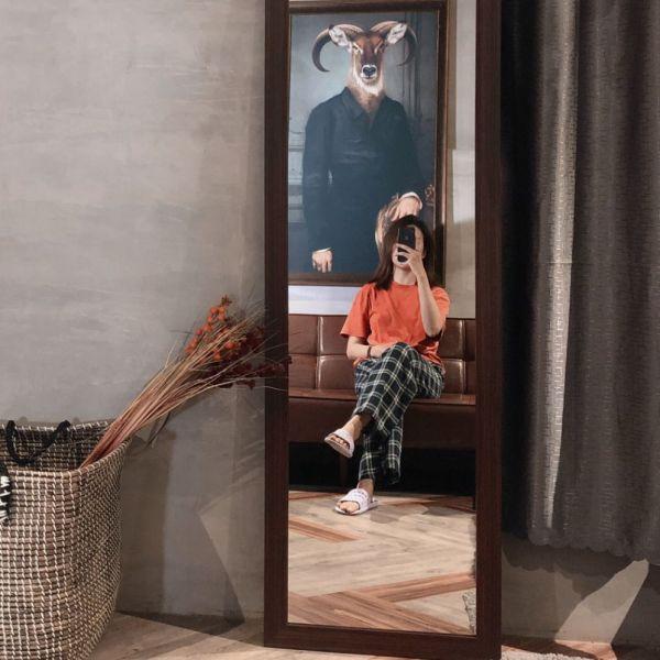 Gương đứng 1m8 khung gỗ