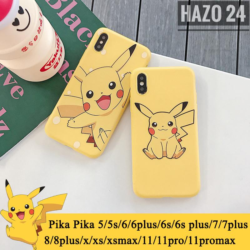 Giá Ốp lưng iphone Pika Pika 5/5s/6/6plus/6s/6splus/7/7plus/8/8plus/x/xs/xs max/11/11pro/11promax, Silicon dẻo in hình Pikca cute