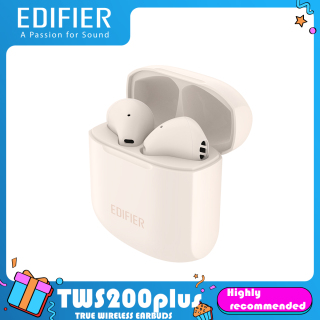 Edifier TWS200plus True Wireless Bluetooth Earphone Headset with Long Battery Life CVC8.0 Double Mic Noise Reduction Tap Control for IOS Android Huawei thumbnail