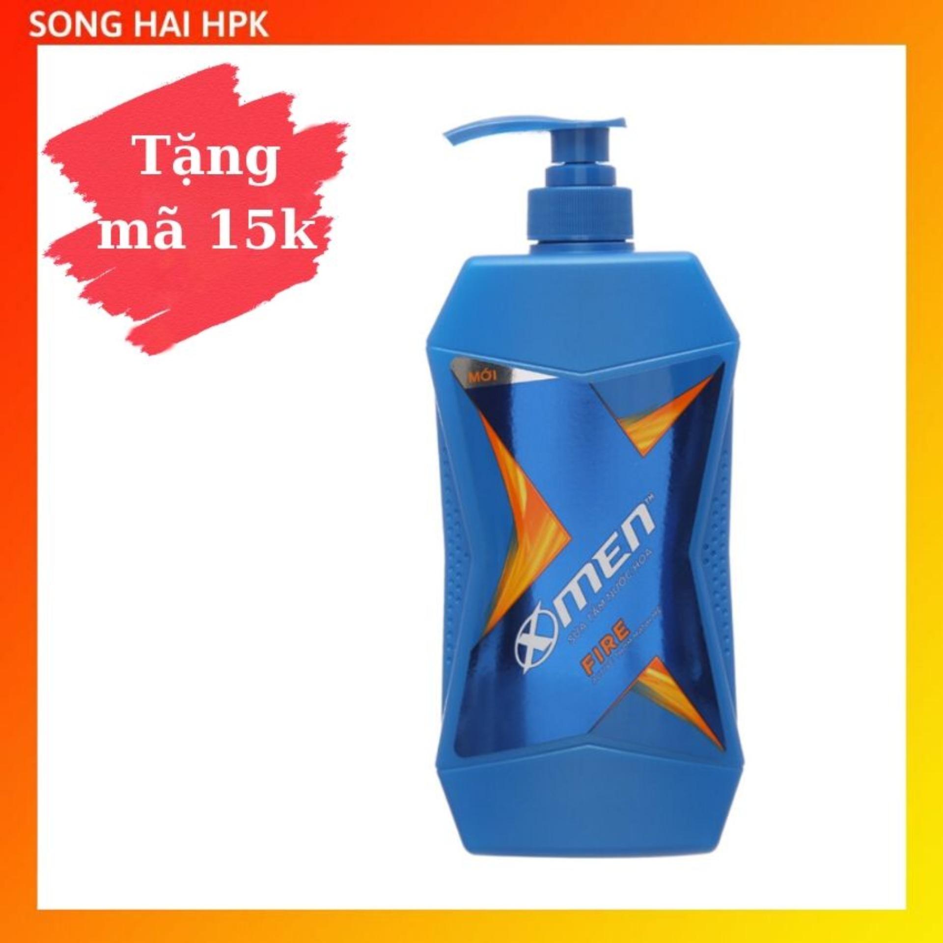 Sữa tắm nước hoa X-Men Fire Active - Sạch sâu thơm mạnh mẽ 650g Songhaihpk nhập khẩu