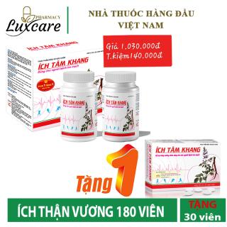 Ích Tâm Khang - Hỗ Trợ Phòng Ngừa Suy Tim - Hộp 180 Viên - Luxcare thumbnail