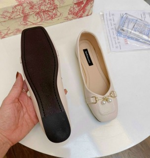 Giày búp bê nữ phối khóa ngọc chất đẹp êm chân 2