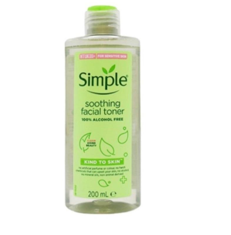 [BẢN MỚI] Nước hoa hồng Simple Soothing Facial Toner 200ml cao cấp
