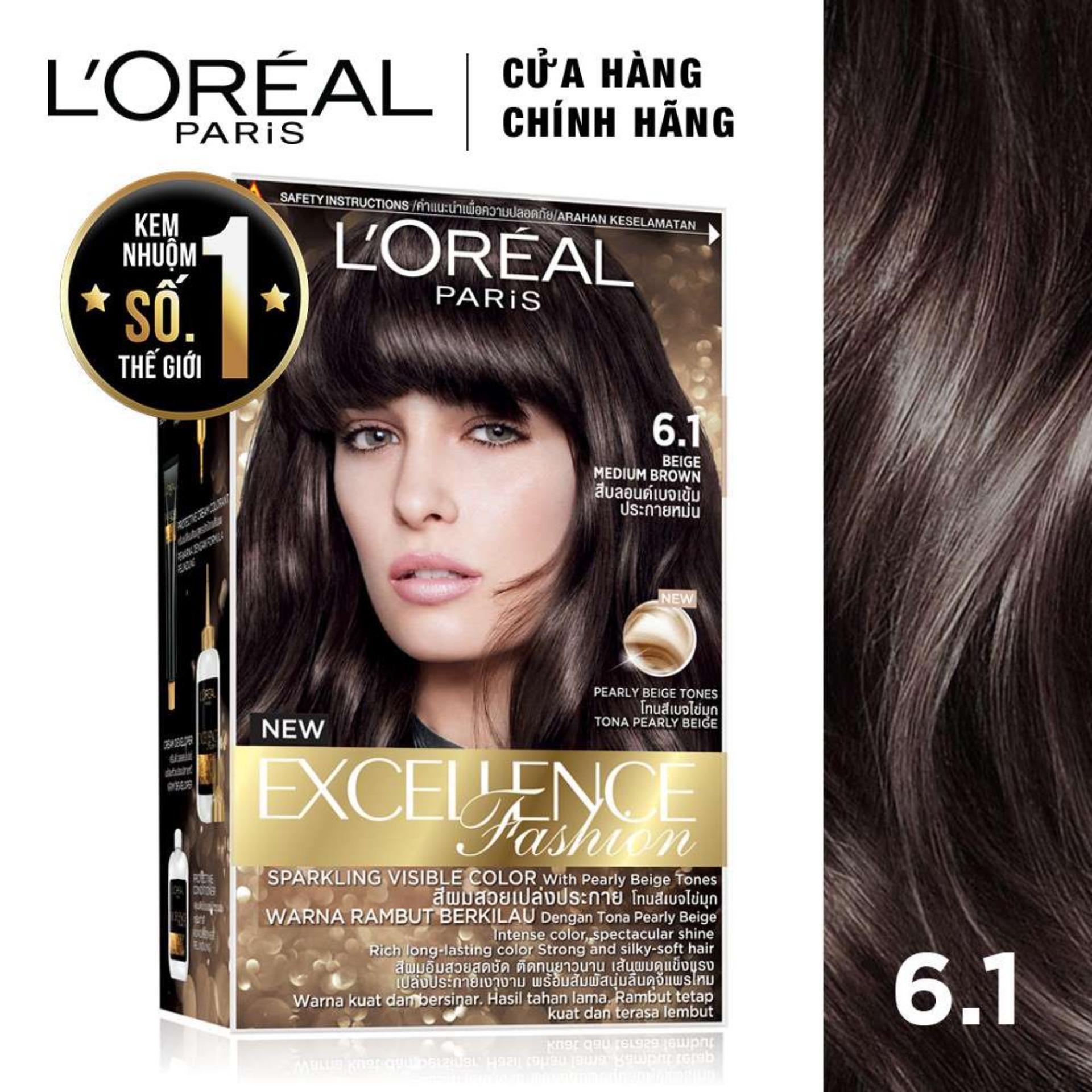 Kem nhuộm dưỡng tóc LOreal Paris Excellence Fashion 172ml chính hãng