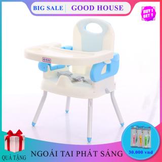 Ghế ăn dặm cho bé thiết kế nhỏ gọn, hiện đại. Có Chân sắt, Mặt bàn có các hốc riêng biệt, chắc chắn an toàn cho trẻ thumbnail