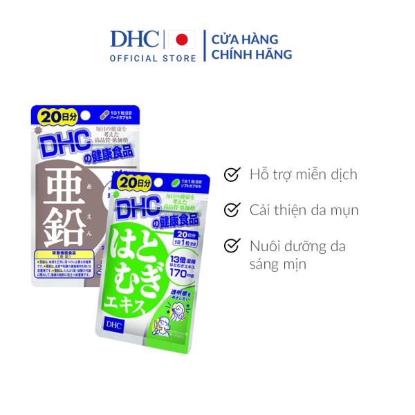Combo Viên uống DHC Cải Thiện - Làm Đều Màu Da 20 Ngày (Kẽm & Adlay) giá rẻ