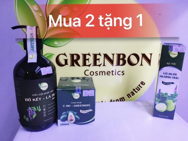 [Mua 2 tặng 1] Bộ chăm sóc tóc GREENBON giá rẻ