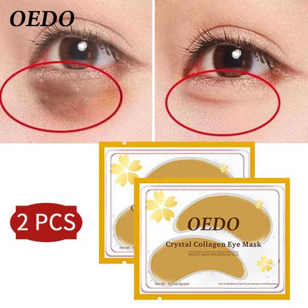 2 miếng mặt nạ OEDO dưỡng da cho mắt có chứa collagen tinh thể vàng chống lão hóa - INTL