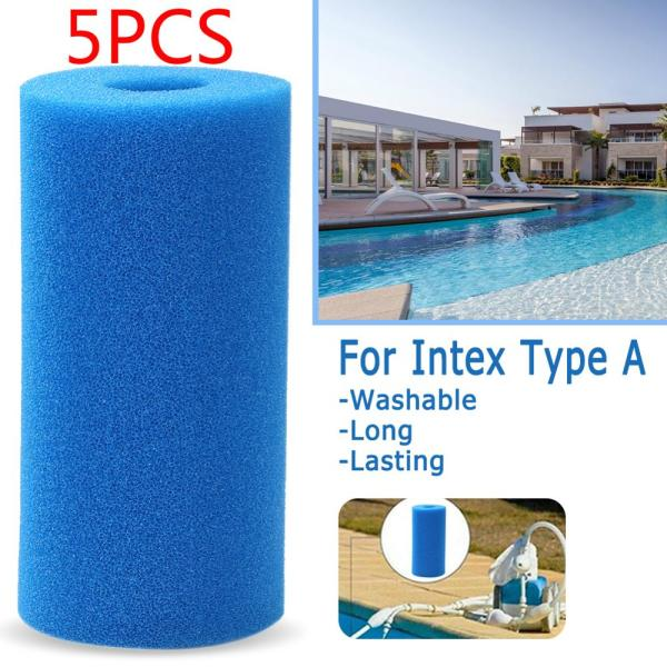 Reusable&Washable Swimming Pool Filter Foam Sponge Cartridge For Intex Type A AD