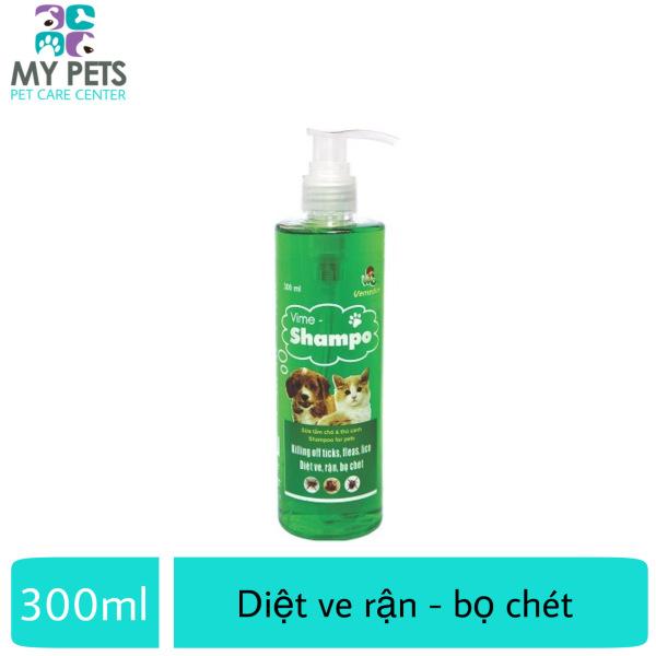 Sữa tắm cao cấp diệt ve rận, bọ chét, dương lông cho chó mèo (VMD) - ViMe Shampoo 300ml