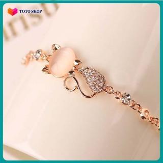 Vòng tay nữ hình con mèo, hình hồ ly, đính đá mắt mèo, phong cách Hàn Quốc, hàng cao cấp, mẫu mới nhất BSTVT - [ToTo Shop] thumbnail