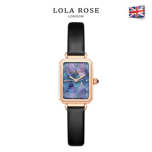 Đồng hồ nữ đẹp đồng hồ Lolarose thiết kế mặt vuông 22x27mm với những mảnh sò hình thoi màu cánh bướm đen quyến rũ kết hợp dây da bảo hành 2 năm LR2180 đồng hồ nữ sang trọng bán chạy