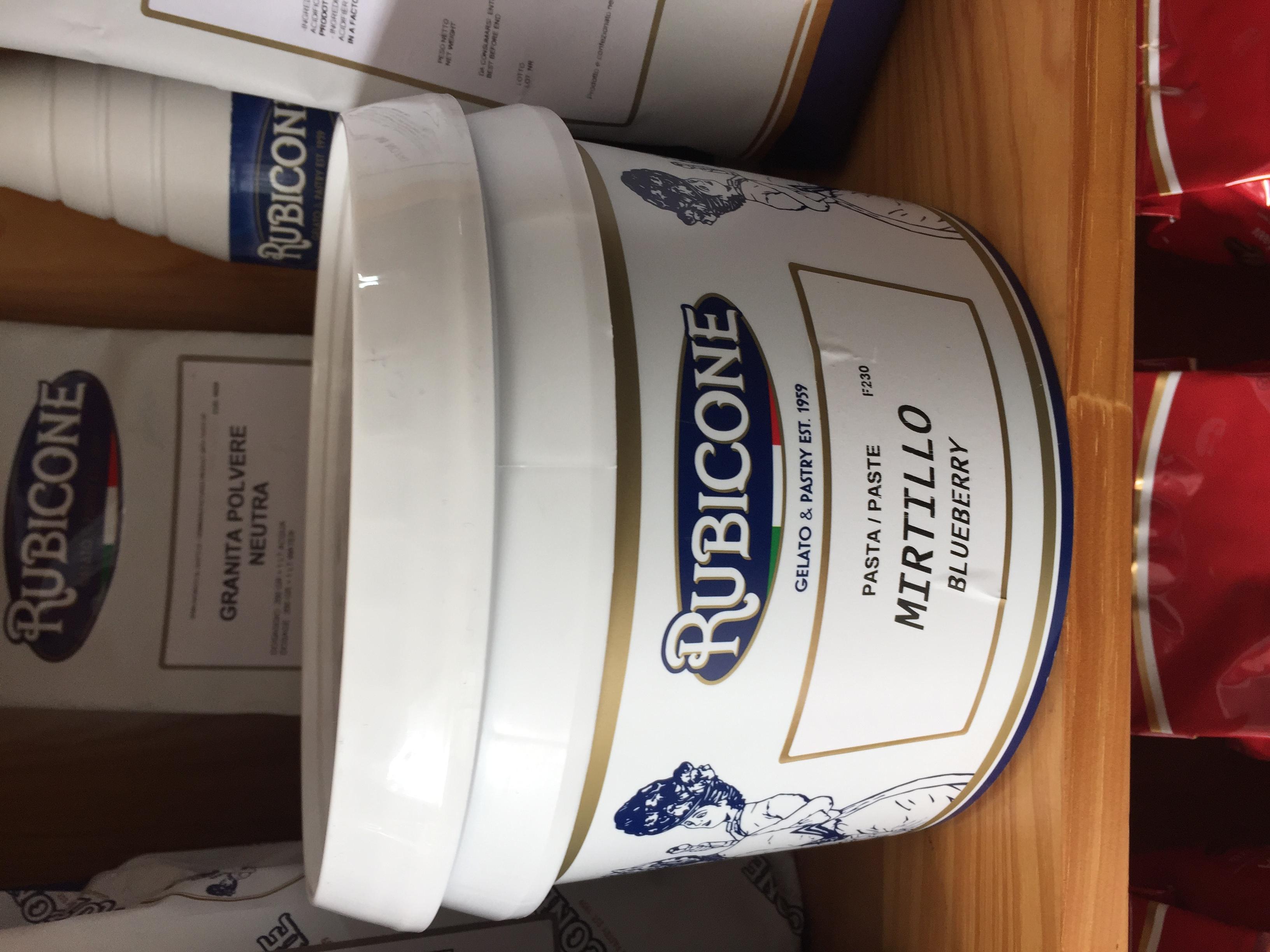 Mứt việt quất - Rubicone Blueberry 3KG - Nguyên liệu làm kem, bánh ngọt hương vị Việt quất