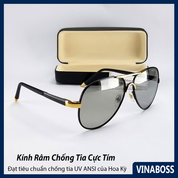 Giá bán Mắt kính mát nam đổi màu dùng cả ngày và đêm tròng Polaroid VNPOR8503DM - Kính mát nam đổi màu xịn chống chói chống tia UV - Tặng kèm hộp và khăn lau