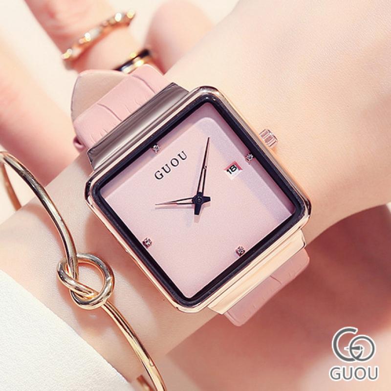 Đồng hồ Nữ GUOU NATI Dây Mềm Mại đeo rất êm tay - Kiểu Dáng Apple Watch 40mm - Đồng hồ nữ giá rẻ, Đồng hồ nữ kính sapphire, Đồng hồ nữ hàn quốc, Đồng hồ nữ thời trang, Đồng hồ nữ chống nước, Đẹp,Sang trọng