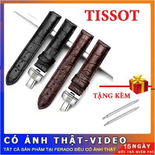 Dây đồng hồ da Tissot vân cá sấu cho nam size 22mm siêu đẹp thumbnail