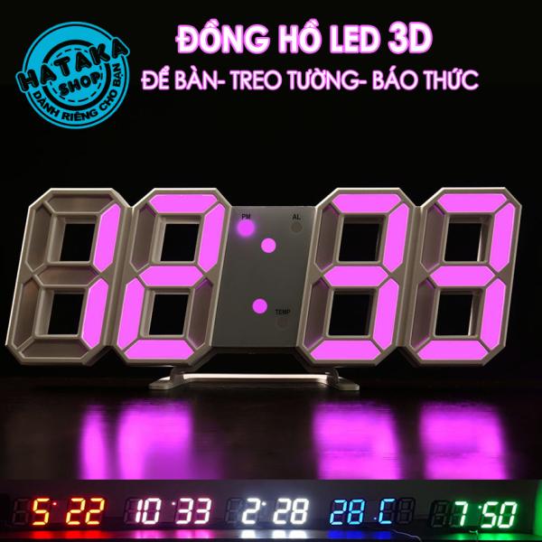 Nơi bán Đồng hồ LED 3D treo tường, để bàn thông minh TN828 Smart Clock