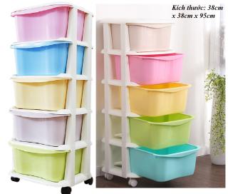 TỦ NHỰA 5 TẦNG - TỦ ĐA SẮC - TỦ LẮP RÁP - TỦ BÁNH XE - TỦ ĐỤNG ĐỒ - TU DA SAC - TỦ NHỰA 5 TẦNG VIỆT NHẬT - tủ lắp ráp được - tủ gấp gọn - tủ nhiều màu - tủ duy chuyển được - tủ đụng đồ sơ sinh - đồ nội thất - trang trí nhà cửa thumbnail