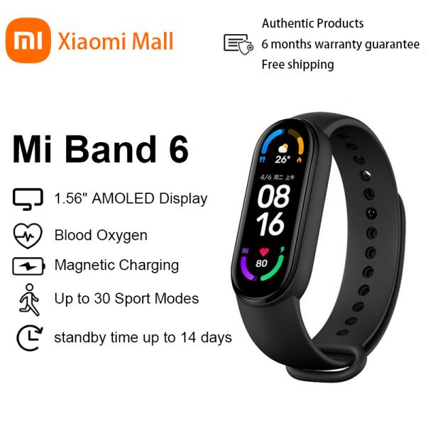【New Arrival】Xiaomi Mi Band 6 Smart Bracelet 5 Color AMOLED Blood Oxygen Miband 6 Fitness Traker Heart Rate Bluetooth Waterproof Xiaomi Mall