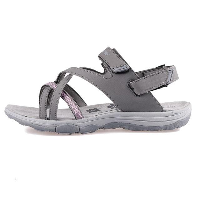 GRITION Giày Sandal Nữ Phẳng Đế Mềm Đi Biển Giày Đi Bộ Thoải Mái Ladys Casual Hở Ngón 2020 Thoáng Khí Giày Sneaker 41 Bán giỏi nhấtjkjk giá rẻ