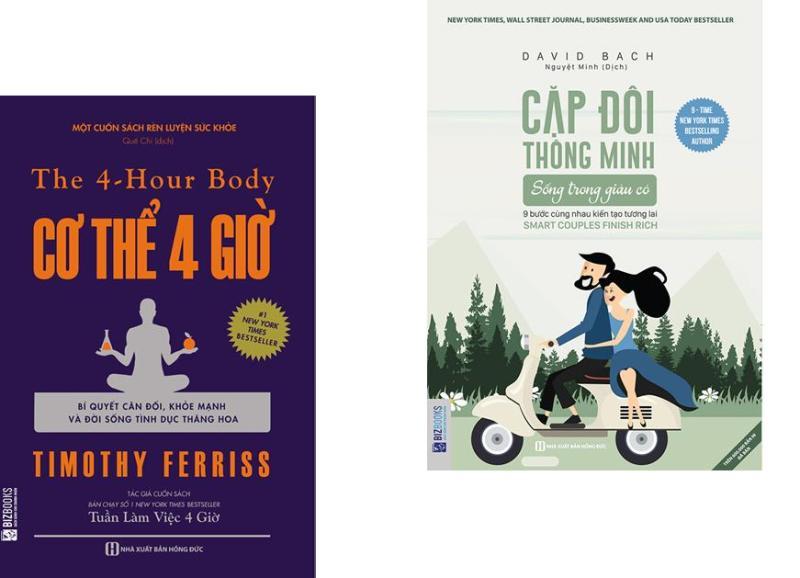 Combo 2 cuốn sách Cơ Thể 4 Giờ - Bí Quyết Cân Đối, Khỏe Mạnh Và Đời Sống Tình Dục Thăng Hoa + Cặp Đôi Thông Minh Sống Trong Giàu Có (Tặng kèm bookmark)