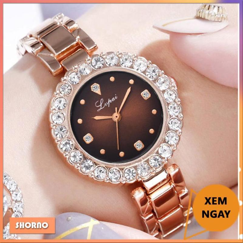 Nơi bán [Xem ngay Video] Đồng hồ nữ LVPAI kiểu dáng thời trang, niềng đính đá lấp lánh
