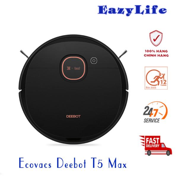 Ecovacs Deebot T5 Max DX65 - Robot hút bụi lau nhà, Hàng Chính hãng, Nguyên Seal, Mới 100%, G