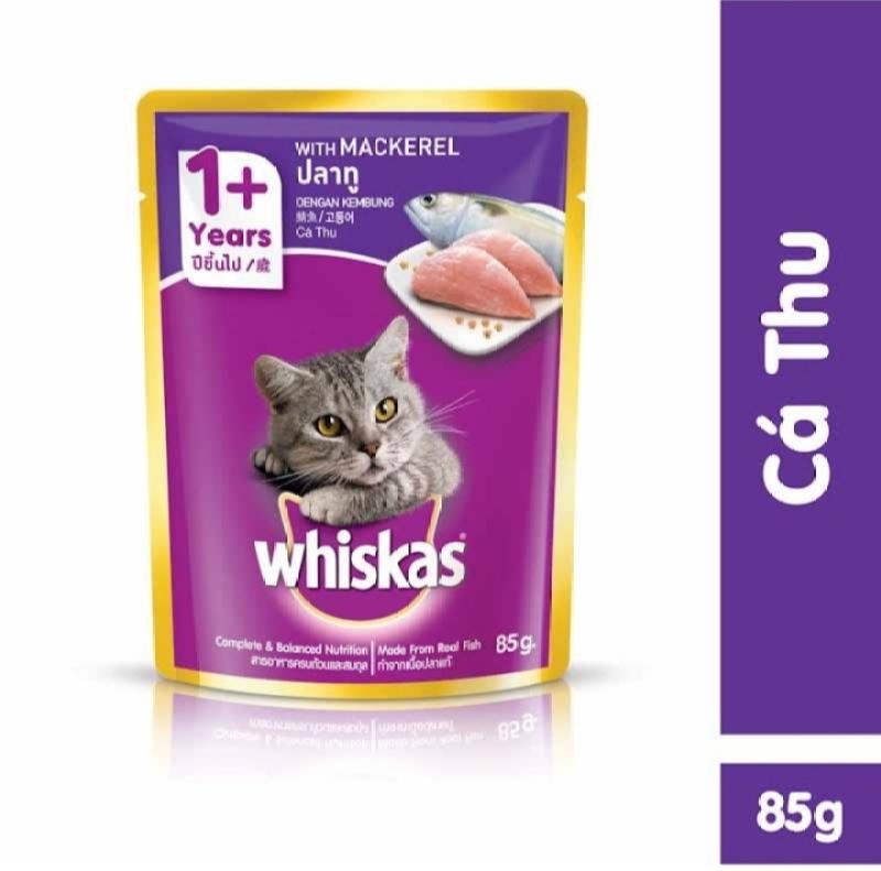 Thức ăn cho mèo Whiskas vị cá thu 85g