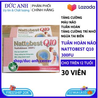 Viên Uống Bổ Não Nattobest Q10 giúp bổ não, tăng cường tuần hoàn não, lưu thông mạch máu não,giảm đau đầu, hoa mắt, chóng mặt, mất ngủ- HSD 2023 đức anh center thumbnail