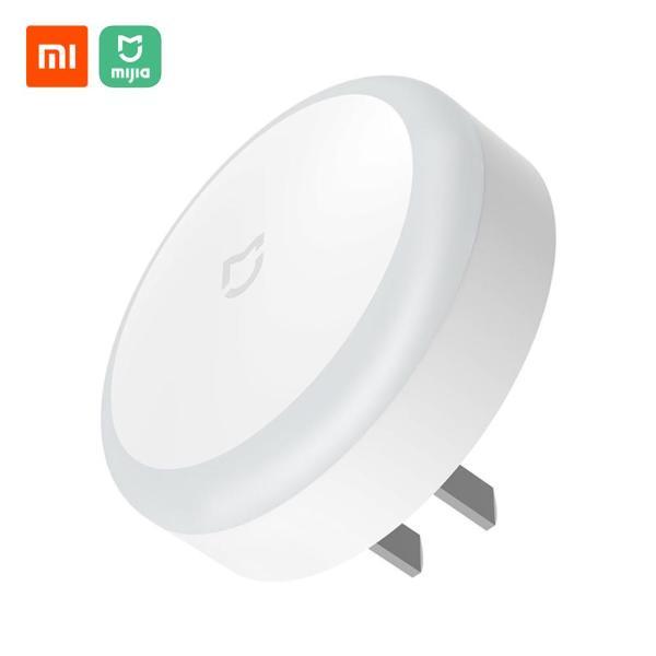 Xiaomi Mijia Plug-in Night Light Sense Induction Soft Light Plug Sensor Light Sleep Night Lamp Energy-saving Night Light For Bedroom Corridor WC Sensor 220V