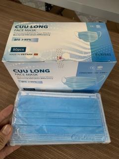 10 Cái Khẩu trang y tế kháng khuẩn chính hãng Cửu Long 4 lớp thumbnail