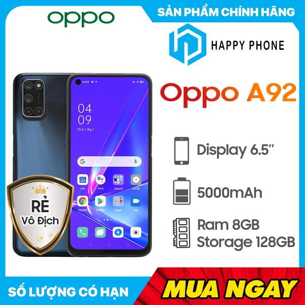 Điện thoại OPPO A92 2020 (128GB/8GB) - Hàng chính hãng, mới 100%, Nguyên seal, Bảo hành 12 tháng