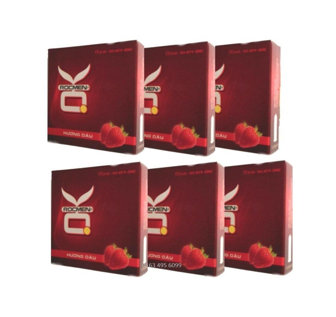 Bộ 6 hộp BCS OK hương Dâu 18c - hương thơm quyến rũ