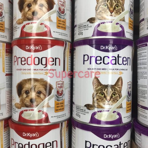Sữa Bột Hương Vanilla Predogen & Precaten dành cho Chó Mèo ở Mọi Lứa Tuổi (Lon 400gr)