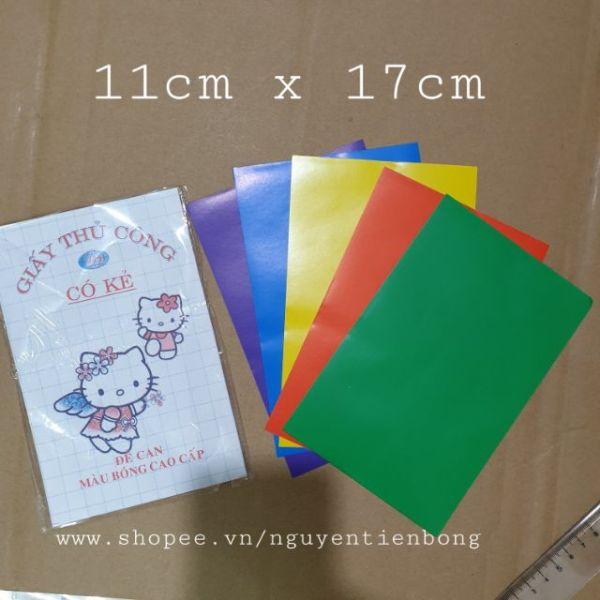 50 giấy thủ công có keo dán sẵn 11cmx17cm