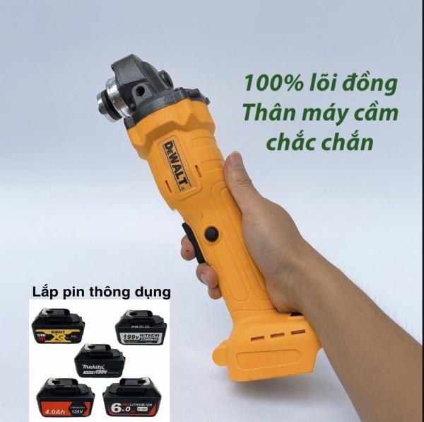 Thân máy mài cầm tay pin DEWALT KHÔNG CHỔI THAN, 100% DÂY ĐỒNG ( lắp vừa pin Makita,Hitachi,Ken)