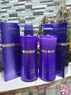 Bộ dầu gội xả Plarmia Hair Serum M Milbon Nhật Bản dành cho tóc khô xơ (2x500ml) thumbnail