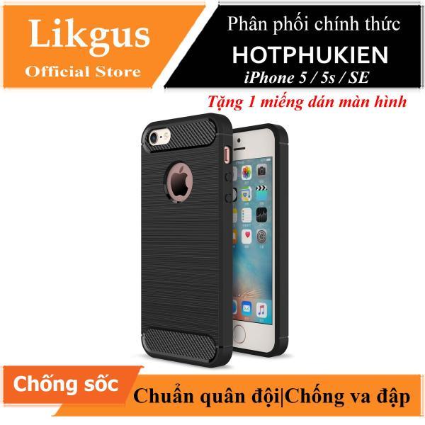 Giá Ốp lưng chống sốc Likgus cho iPhone 5 / 5s / SE (chuẩn quân đội, chống va đập, chống vân tay) (tặng kèm miếng dán cường lực) - Phân phối HotPhuKien