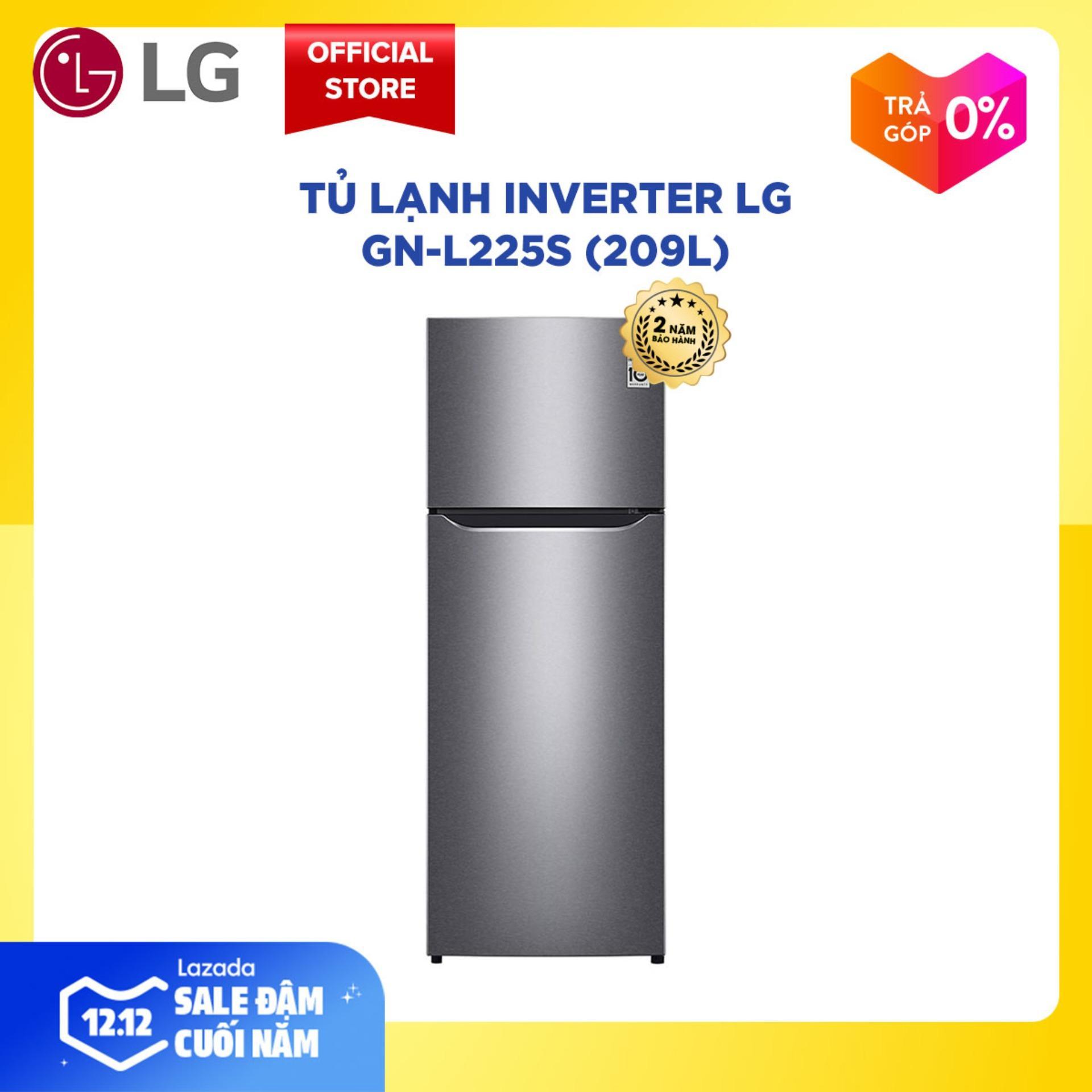 Offer Ưu Đãi Tủ Lạnh Inverter LG GN-L225S 209L (Xám) - Bảo Hành 2 Năm - Hàng Phân Phối Chính Hãng, Tiết Kiệm Điện, Hệ Thống Khí Lạnh đa Chiều, Khử Mùi Nano Carbon