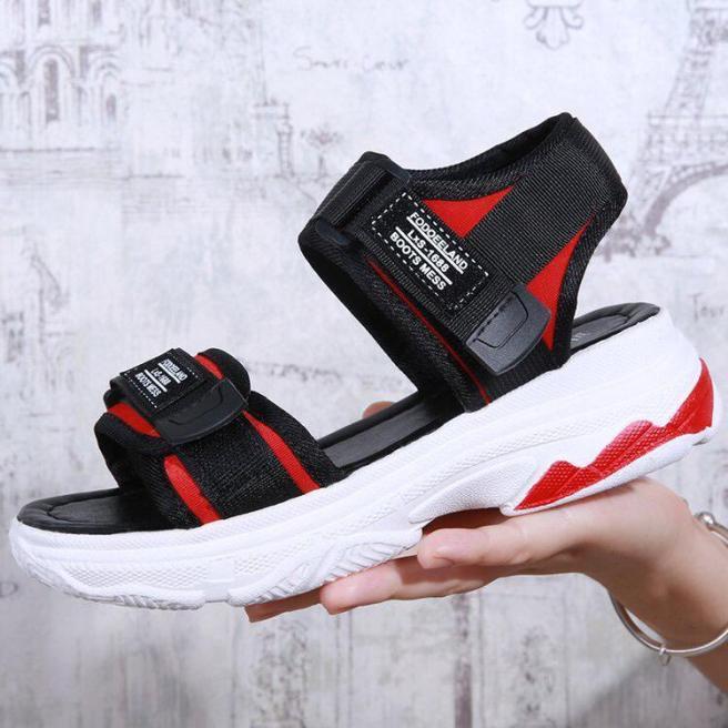 Sandal bánh mỳ đế đỏ êm chân giá rẻ