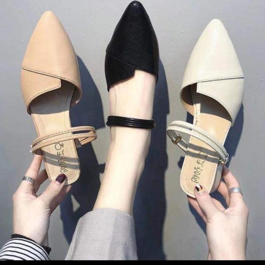 Giày sục nữ mang 2 kiểu chất liệu cao cấp mềm mại thiết kế thời trang sang trọng phù hợp với nhiều trang phục giá rẻ