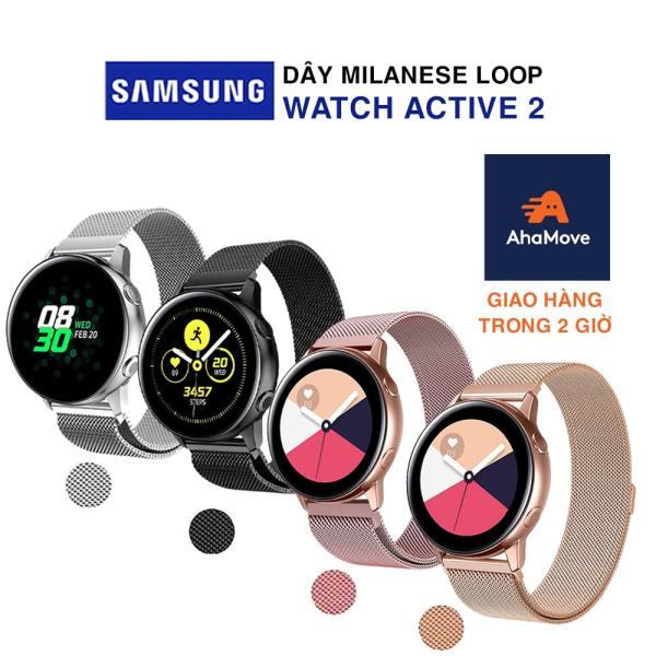 Dây đồng hồ Samsung Watch Active 2 bản 40/44mm dây đeo bằng thép không gỉ Milanese Loop có khóa nam châm