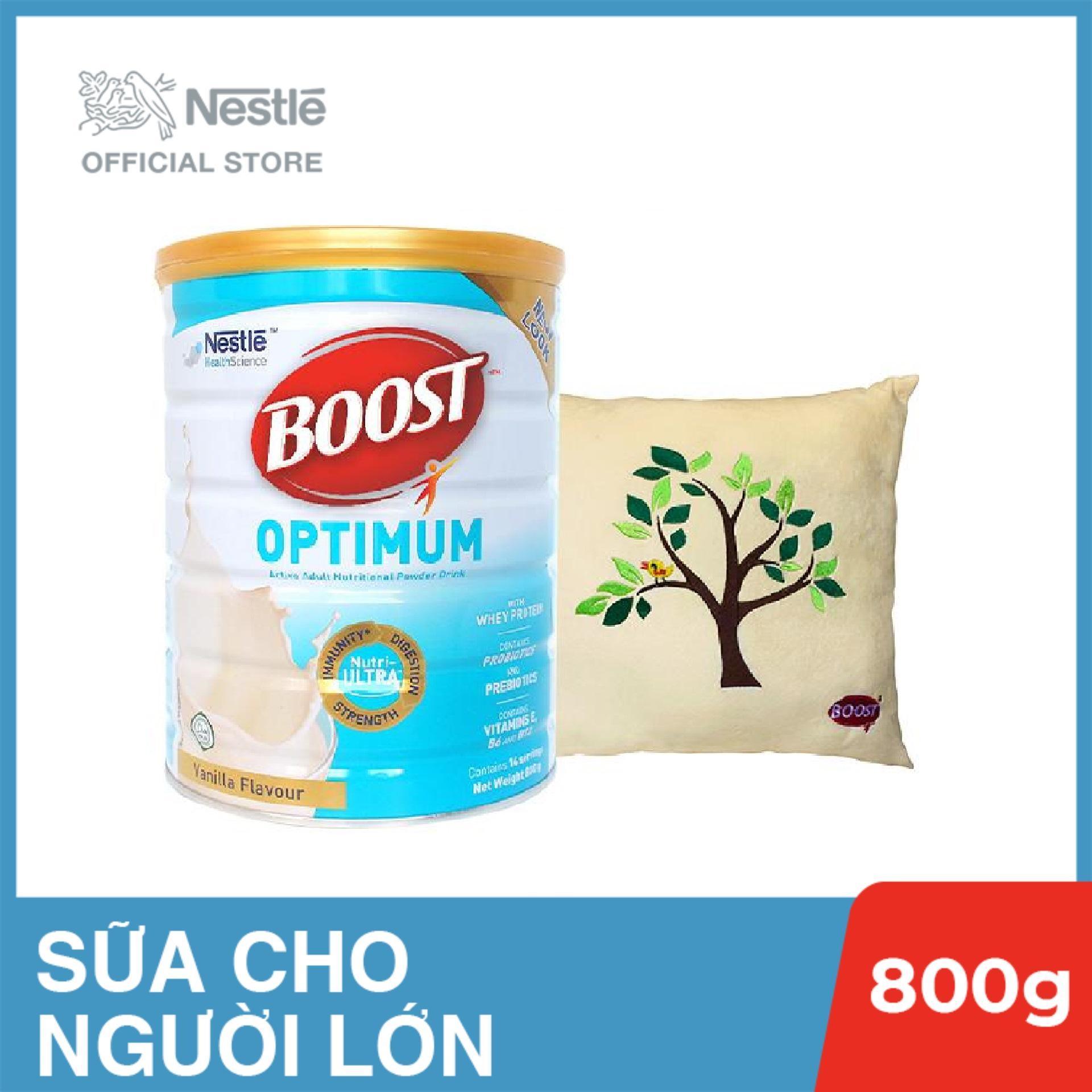 Sản phẩm dinh dưỡng y học Boost Optimum - Lon 800g, Tặng gối tựa lưng nhập khẩu