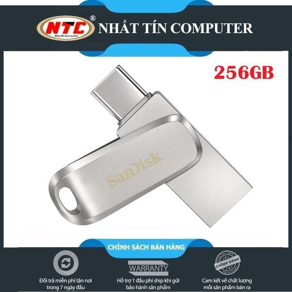 Giá USB OTG Sandisk Ultra Dual Drive Luxe USB Type-C 3.1 256GB 150MB/s (Bạc) - Vỏ kim loại cao cấp - Nhất Tín Computer