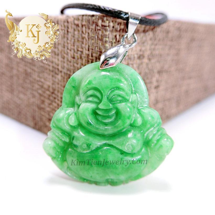 Dây Chuyền Phật Di Lặc Cẩm Thạch Đậu ( 2,8 x 2,6 cm ) - Dành Cho Nữ - Vị Phật Của Nụ Cười - An Lành - Thượng Hiệu Kim Tiền Jewelry