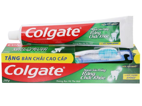 [HCM]Kem đánh răng Colgate ngừa sâu răng chắc khoẻ 225g giá rẻ
