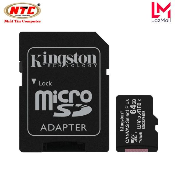 Thẻ nhớ microSDXC Kingston Canvas Select Plus 64GB U1 V10 A1 100MB/s (Đen)