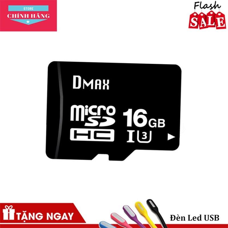 Thẻ nhớ micro SDHC Dmax 16GB UHS1 U3 tốc độ cao FullHD 4K