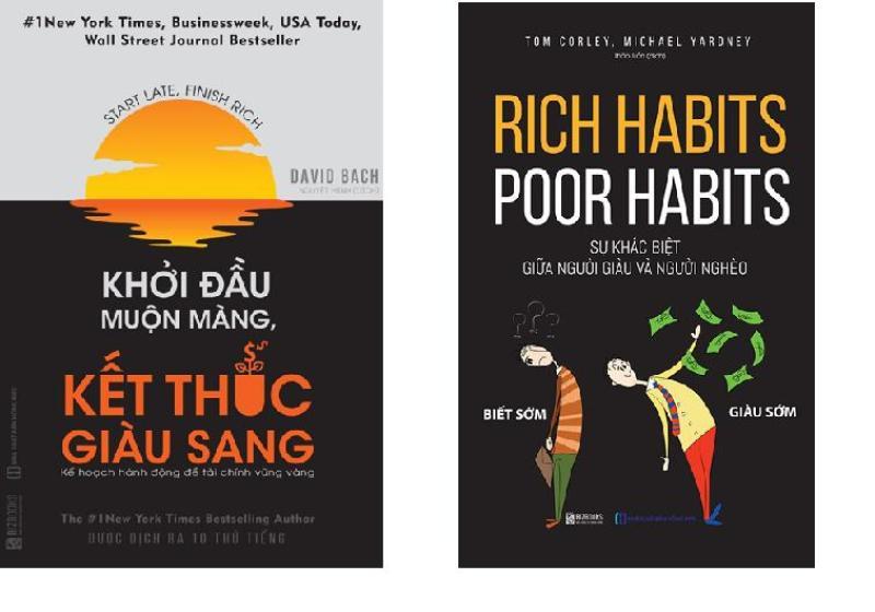 Combo 2 cuốn sách: Khởi đầu muộn màng kết thúc giàu sang + Rich Habits - Poor Habits, sự khác biệt giữa người giàu và người nghèo (Tặng kèm bookmark)