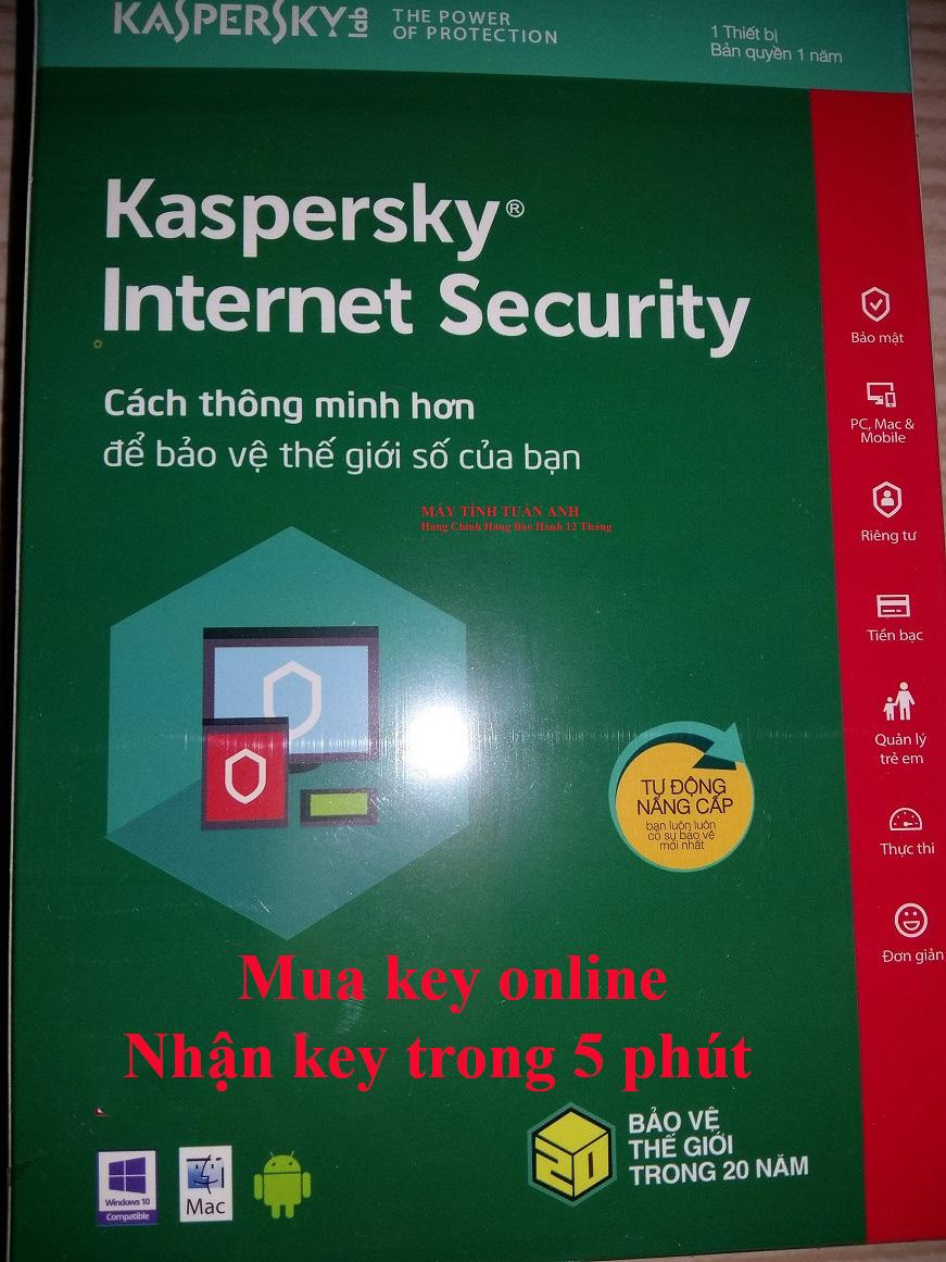 Phần mềm Kaspersky Internet Security 2019/3PC/ 365